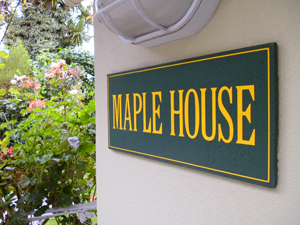 Maple House sign